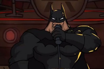 Batman is a metalhead