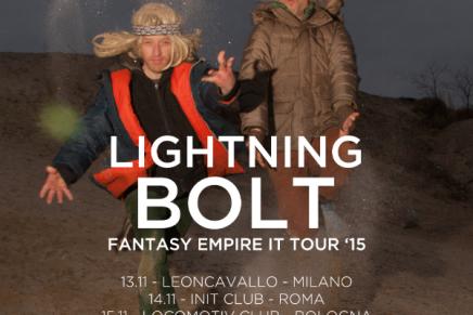 Lightning Bolt: in Italia per tre date