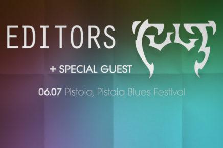 Pistoia Blues Festival 2017: Editors + The Cult il 6 luglio 2017