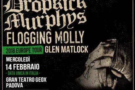 Dropkick Murphys e Flogging Molly tornano in Italia per un'unica data assieme a Glen Matlock